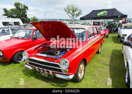 Ford Mark 1 Cortina at the Powderham Castle Rally - Stock Photo