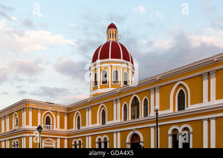 Granada Cathedral one of the oldest buildings in Central America, Nicaragua - Stock Photo
