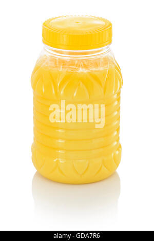 Jar of Pure Indian Ghee Isolated on White Background