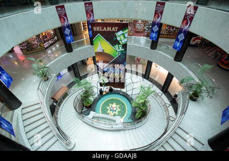 a shopping mall in the city of Bandar seri Begawan in the country of Brunei Darussalam on Borneo in Southeastasia. - Stock Photo