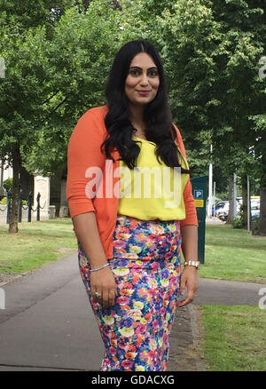Anti-Racism campaigner and Muslim businesswoman Shazia Awan, who has backed a South Wales Police campaign which - Stock Photo
