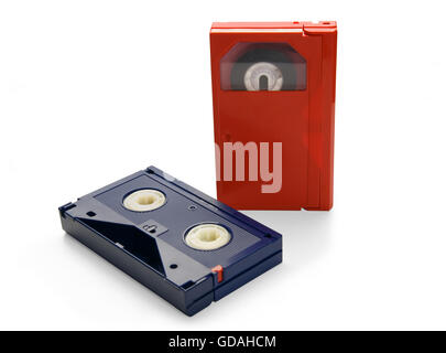 Video cassette, isolated on white background. - Stock Photo