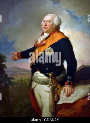 King Frederick William II. Of Prussia (1744-1797) Germany in front of Frankfurt during the first coalition war against - Stock Photo