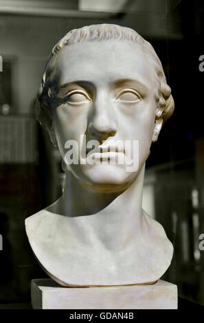 Bust of Johann Wolfgang von Goethe Germany Berlin Sculptor: Klauer, Martin Gottlieb Workshop : Brothers Micheli - Stock Photo