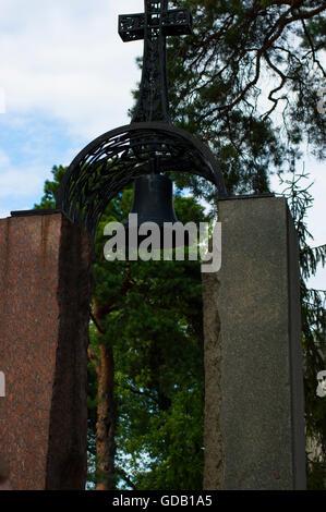 Low Angle View Of Monument to Chernobyl Liquidators - Stock Photo