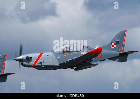 PZL Mielec PZL130TC-II Orlik Polish Air Force Aerobatic Team - Stock Photo