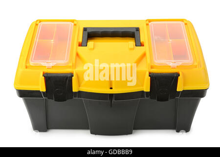 Tool box isolated on white background - Stock Photo