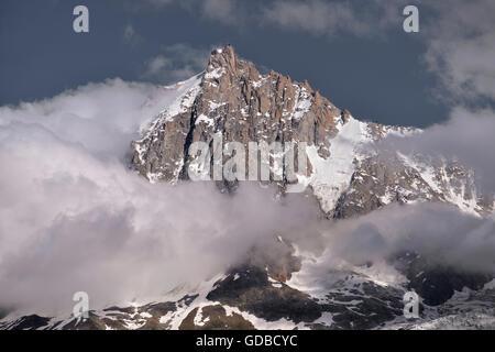Aiguille du Midi in France - Stock Photo