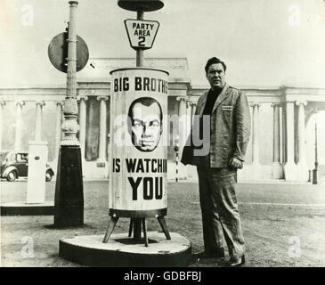 FILM 1984 (1956, Michael Anderson) Edmond O'Brien (Winston Smith) - Stock Photo