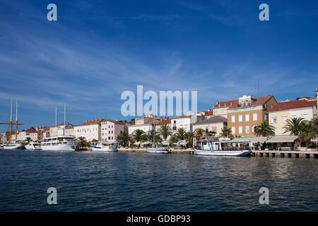 Port of Mali Losinj, Losinj, Cres, Croatia, Kvarner Gulf, Adria, Croatia - Stock Photo