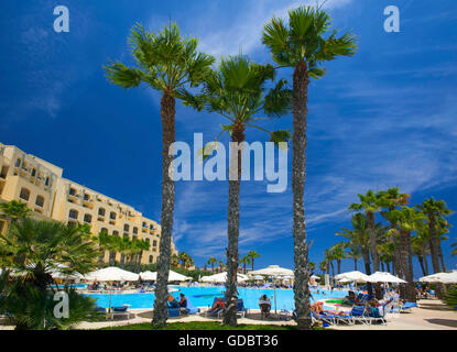 The Hilton Resort in St Julians, Malta - Stock Photo
