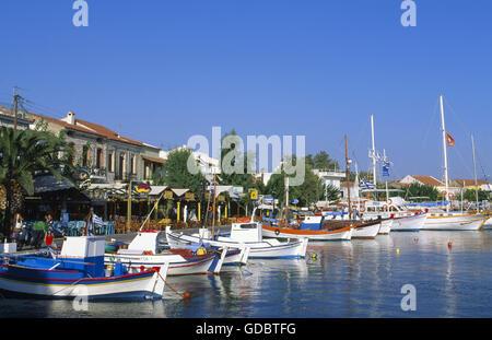 Harbour of Pythagorion, Samos Island, Greece - Stock Photo