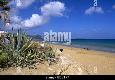 Beach of Porto Santo Island, Madeira - Stock Photo