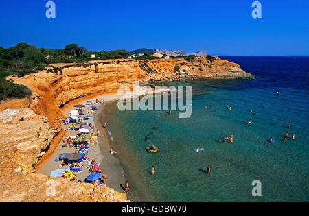 Sa Caleta, Ibiza, Balearic Islands, Spain - Stock Photo