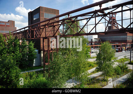 Coal mine Zollverein, Essen, Ruhr area, North Rhine-Westphalia, Germany / Industrial Heritage Trail - Stock Photo