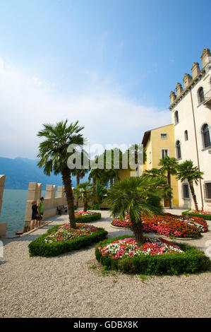 Garden of the Palazzo dei Capitani in Malcesine Lake Garda, Italy - Stock Photo