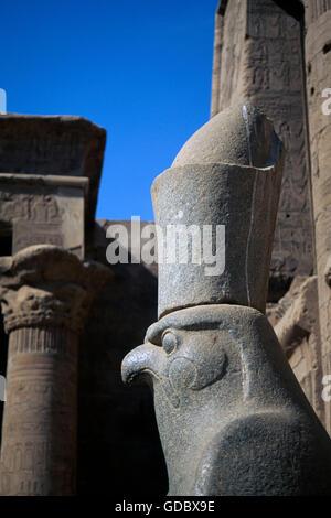 Horus Temple, Edfu, Egypt - Stock Photo