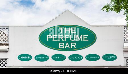 The Perfume Bar in Nassau Bahamas - Stock Photo