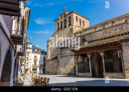 Jaca, Huesca Province, Aragon, Spain.    Romanesque Catedral de San Pedro Apóstol.  Cathedral of St Peter the Apostle. - Stock Photo
