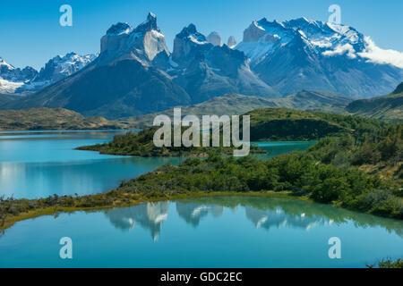 South America,Patagonia,Chile,Region de Magallanes y de la Antarctica,Torres del Paine,National Park,UNESCO,World - Stock Photo