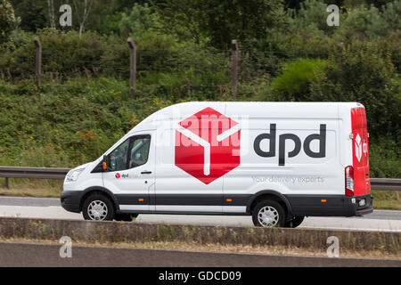 DPD delivery van on the highway