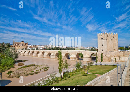 Córdoba in the southern Spanish province of Andalusia formerly a Roman city and an Islamic cultural center in the - Stock Photo