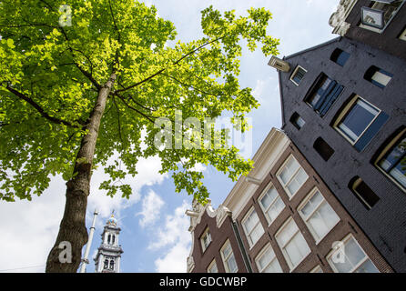 Traditional Architecture In Amsterdam Holland - Stock Photo