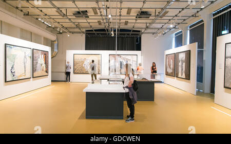 Art Gallery Verzetmuseum Amsterdam Holland - Stock Photo