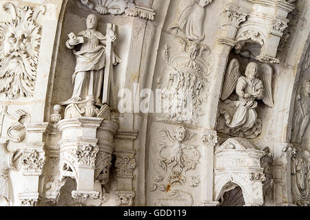 Europe, France, Maine et Loire, Fontevraud, Notre Dame Abbey - Stock Photo