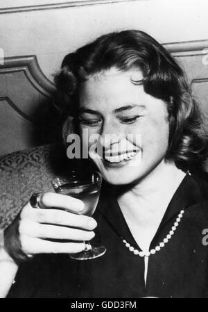 Bergman, Ingrid, 29.8.1915 - 29.8.1982, Swedish actress, portrait, 1950s, Additional-Rights-Clearances-NA - Stock Photo