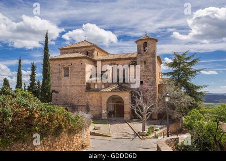 Spain,Huesca Province,Alquezar City,San Miguel Church - Stock Photo