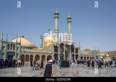 Iran,Qom City,Hazrat-e Masumeh (Holy Shrine) - Stock Photo