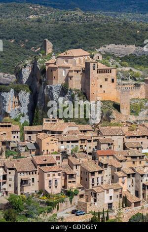 Spain,Huesca Province,Alquezar City,Santa Maria Colegiata - Stock Photo