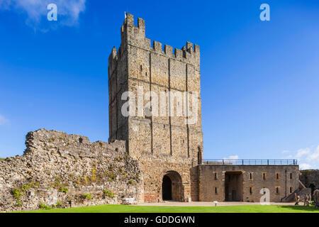 England,North Yorkshire,Richmond,Richmond Castle - Stock Photo