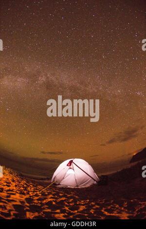 Kauai,camping,Kauai,star sky,stars,evening,Astro,USA,Hawaii,America, - Stock Photo