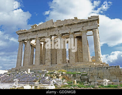 Acropolis Temple in Athens, Greece - Stock Photo
