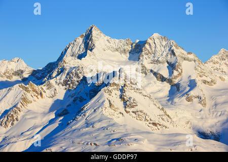 Ober Gabelhorn - 4063 ms,Valais,Switzerland - Stock Photo