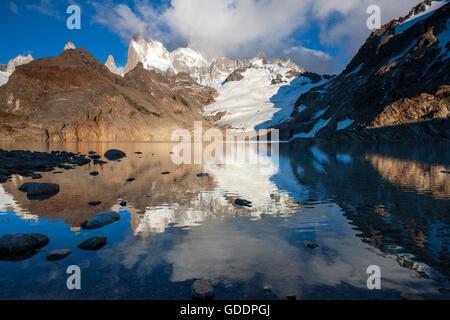 Laguna de los Tres,Argentina,Patagonia - Stock Photo