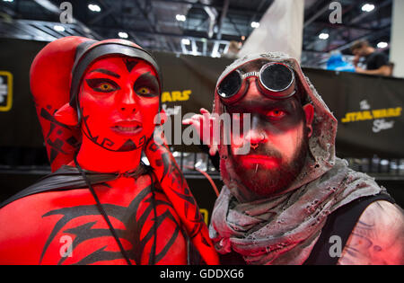 ExCel London, UK. 15th July 2016. Star Wars Celebration Europe 2016 opens at Excel, running from 15-17 July and - Stock Photo