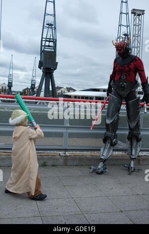 London, UK. 15th July, 2016.Star Wars Celebration Event held at Excel London. The event is on for three days between - Stock Photo