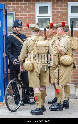 Woodhall Spa, Lincolnshire, UK. 16th July, 2016. The fifth annual Woodhall Spa 1940s Festival attracts 20,000 visitors - Stock Photo