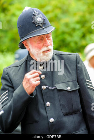 Woodhall Spa 1940s Festival - Policeman dressed in traditional 1940s uniform - Stock Photo
