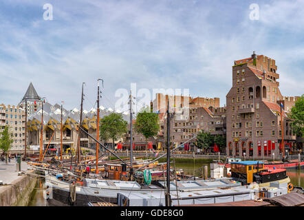 Rotterdam,Cube houses,the Old Harbour - Stock Photo