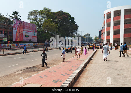 On the street in Thiruvananthapuram. It is the capital city of the Indian state of Kerala. - Stock Photo