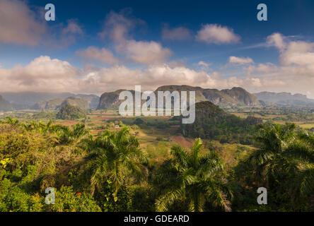Exceptional view of the Vinales valley, Pinar del Rio, Cuba - Stock Photo