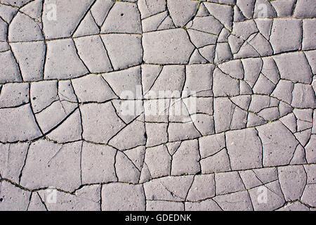 extremely dry ground cracked, water shortage concept - Stock Photo