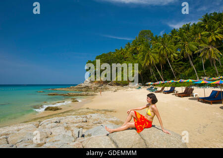 Surin Beach, Phuket Island, Thailand - Stock Photo