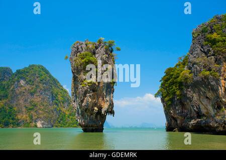 James Bond Island, Phang-Nga Bay National Park, Phuket, Thailand / Phangnga - Stock Photo