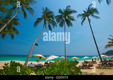 Chaweng Beach, Ko Samui Island, Thailand - Stock Photo