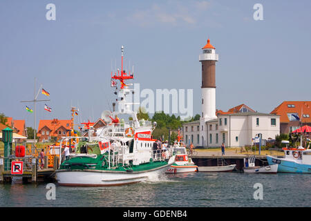 Port, Timmendorf, Poel island, Mecklenburg-Vorpommern, Germany - Stock Photo